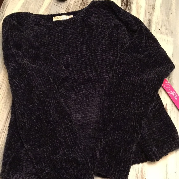 Stitch Fix RD Style Navy Chenille Sweater 4ee5fa673